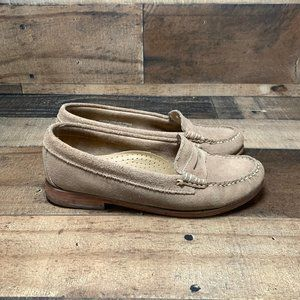 GH Bass Weejuns Suede Penny Loafers Size 7